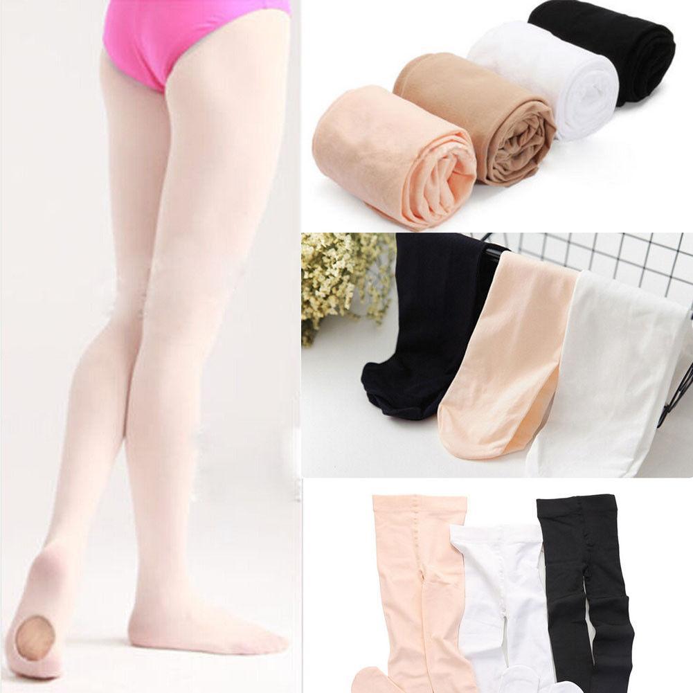 Soft Comfy Girls Ballet Dance Tights Kids Pantyhose Stockings Gym Leotard Stockings