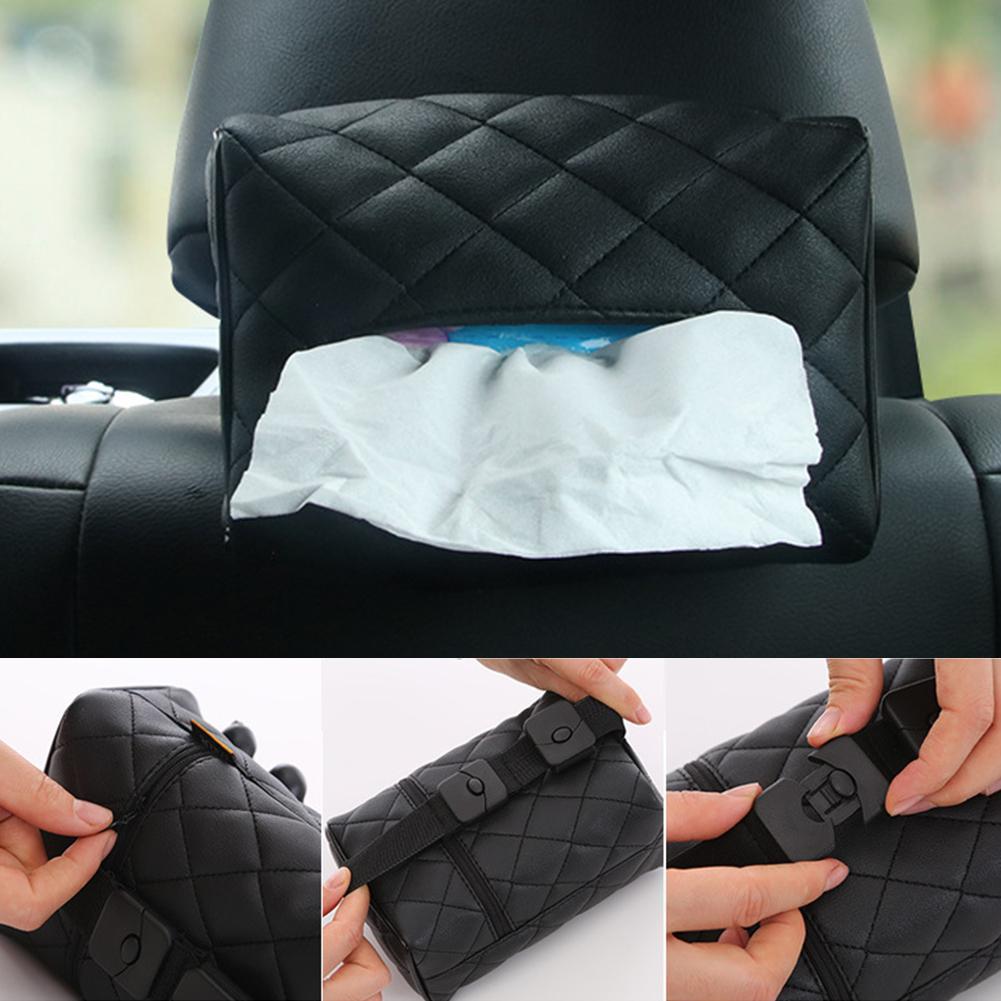 Ligera multifuncional Instalación simple caja del tejido del visera de Sun del coche universal conveniencia de bandeja de papel trasero de la silla colgante de Práctica
