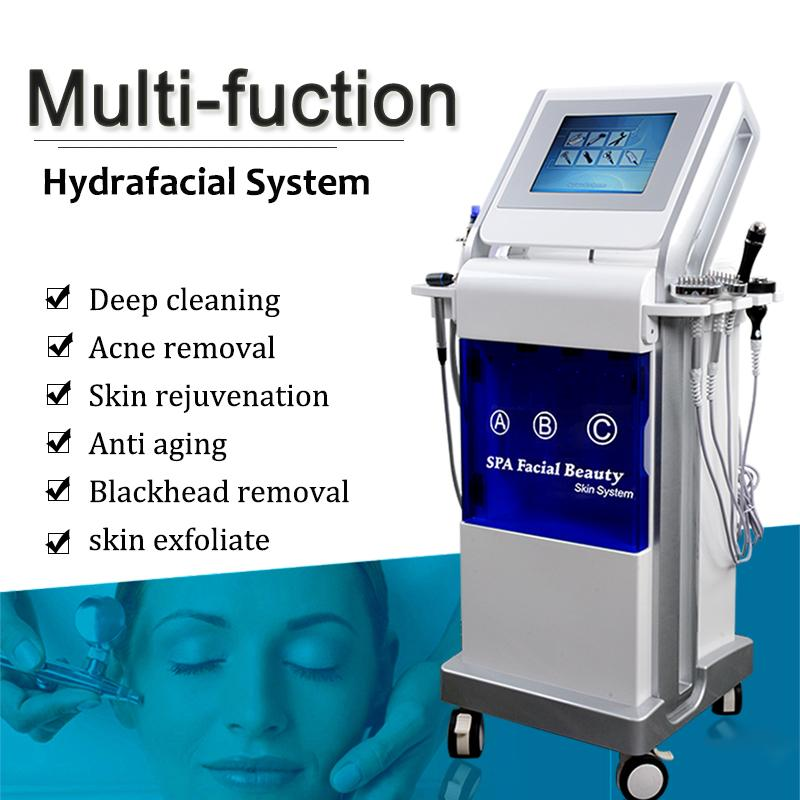 9 IN 1 hydrafacial machine skin care oxygen facial machine for blackhead remover diamond microdermabrasion Deep cleaning hydrofacial