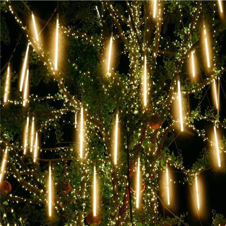 30cm 50cm 80cm 110v / 220v Meteor Shower Rain Tube Guirlande Led extérieur Garland arbre de Noël Lumières feston décoration de mariage