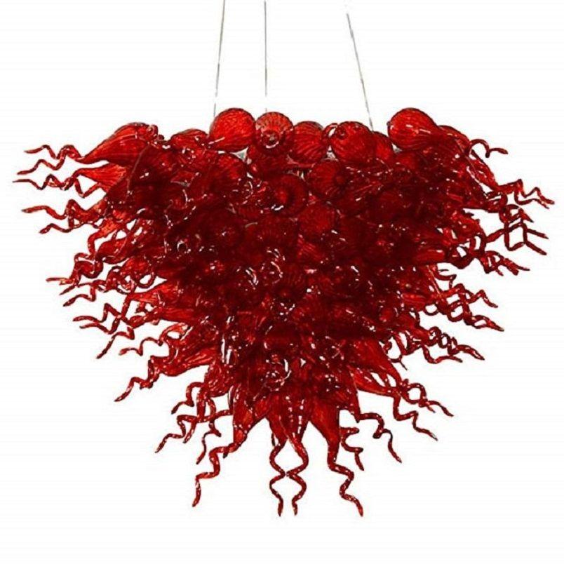توفير الطاقة LED في مهب زجاج الثريا جميلة الايطالية زجاج مورانو الثريا المعلقة زجاج ملون الفراشة مصباح