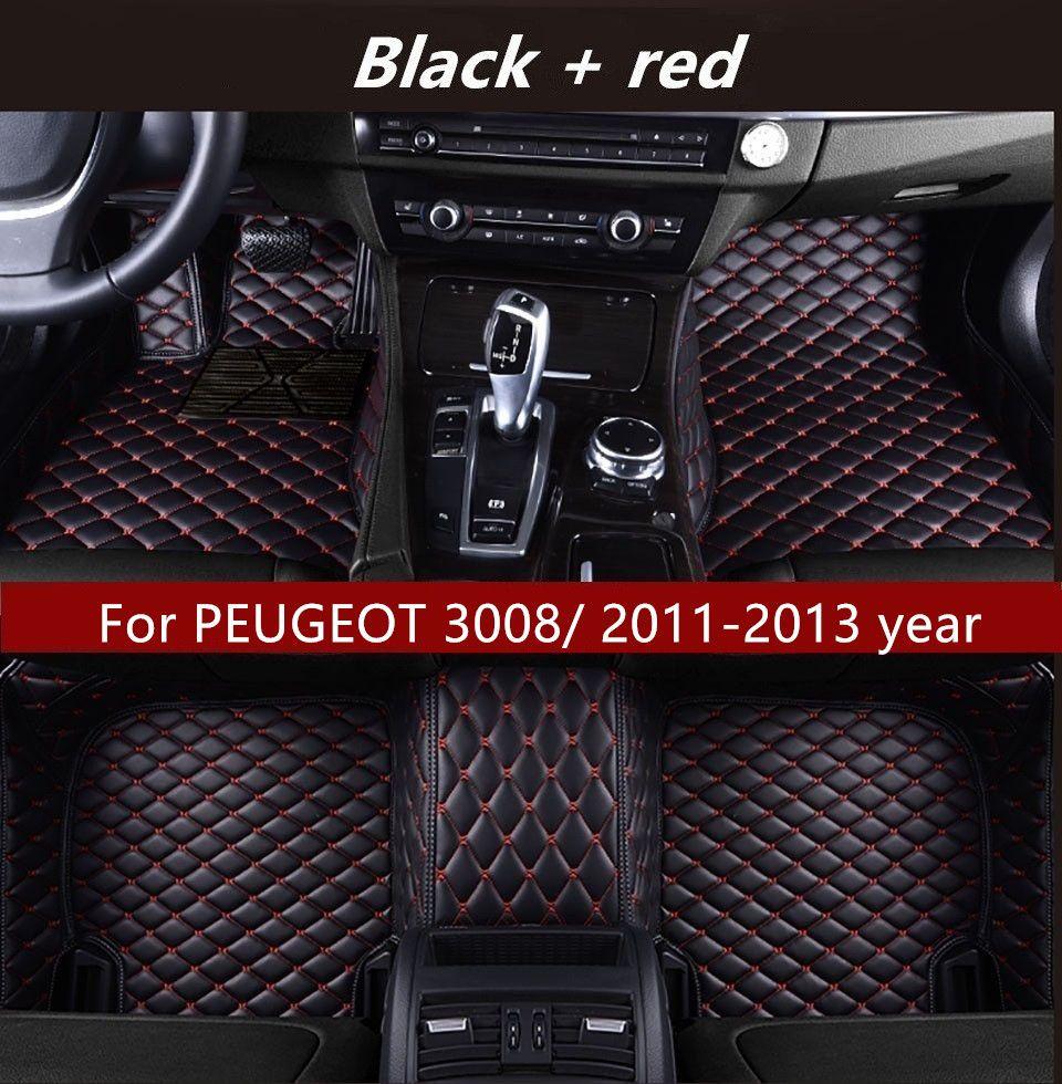 Für PEUGEOT 3008 / 2011-2013 Jahr Auto-Innen Fußmatte Anti-Rutsch-Umweltschutz Tasteless Ungiftiger Bodenmatte