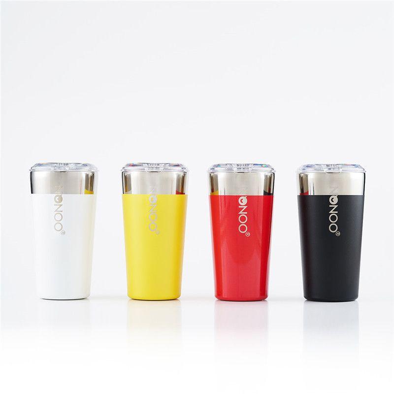 Orijinal Xiaomi Youpin NONOO Kahve Kupa 580ml Su Şişesi 6H Sıcak tutun ve Soğuk Termos Paslanmaz Çelik Mug Tritan Kapak BPA içermeyen Kupası'nı tutun