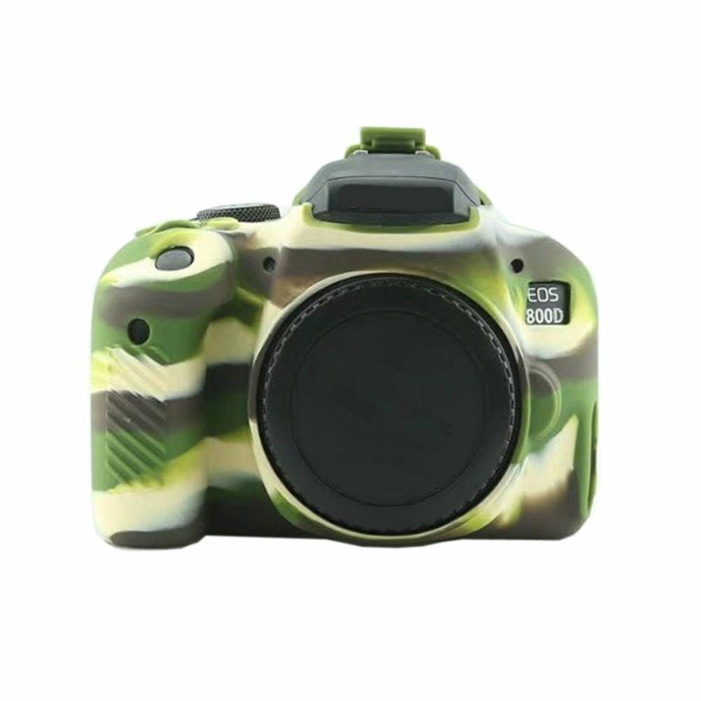 Caso de la piel para Canon 800D Fuerte Suave Ambiental de silicona antideslizante superficie (Canon800D)