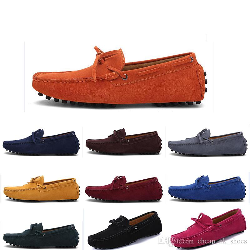 2020 zapatos ocasionales de los nuevos hombres de la moda alpargatas suave castaño claro de triple negro gris rojo zapatilla de deporte masculino caminar al aire libre