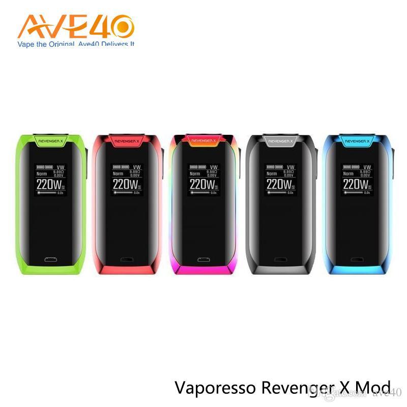 Vaporesso Revenger X Vape Box Mod 220w Touch Screen fit NRG Tank update Vaporesso Tarot Nano Starter Kit