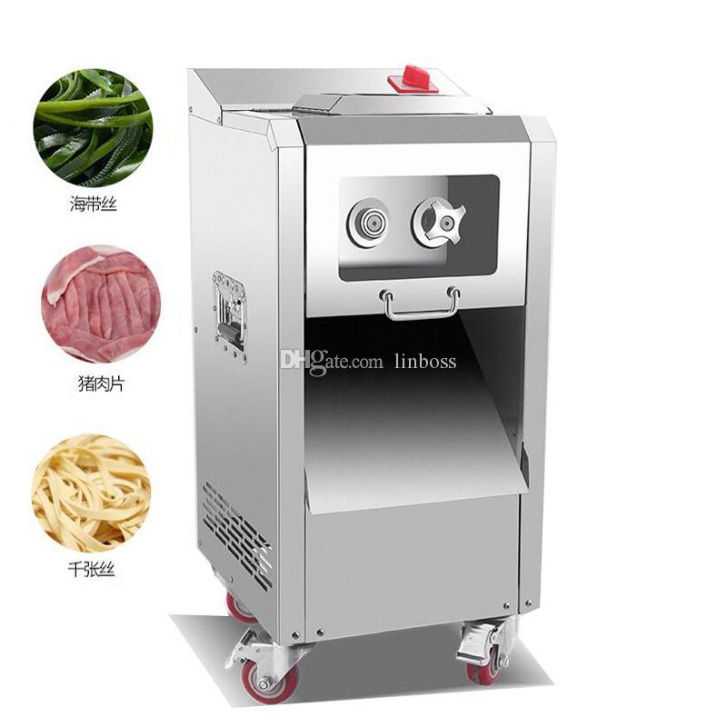 Commerciale di alta qualità a base di carne affettatrice macchina per il taglio di manzo a fette e Kelp Brandelli multifunzionale verticale Meat Cutter