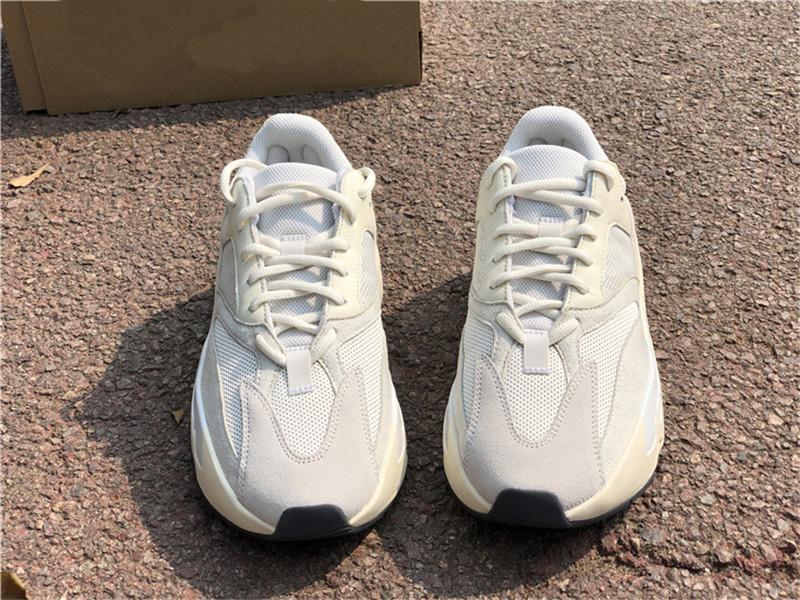Atacado 2020 New 700 V2 Analog Eg7596 Kanye West exterior sapatos, Corredor da onda Sal malva estática Inércia Geode Sneakers Atlético Com Box