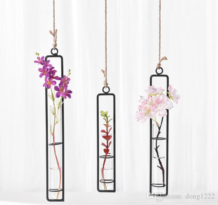 창작병 투명 유리 화병 물 꽃 원예 가정 장식 병 가로 설정