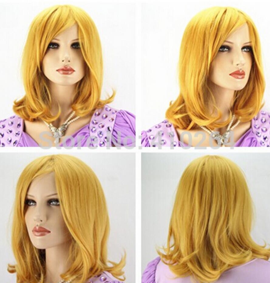 Parrucche WIG LL 002801 ricci oro giallo femminile