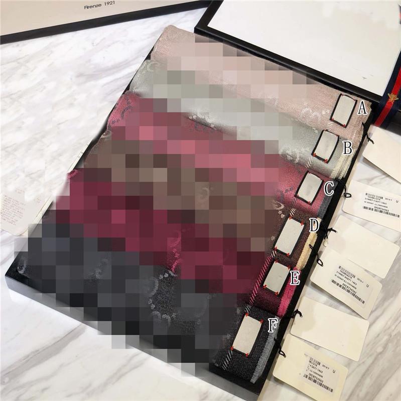 مع علبة هدية ورقة حقيبة 2019 شتاء إمرأة فاخر مصمم الاوشحة الراقية 100٪ الكشمير وشاح للرجال كلاسيكي رسالة الشالات والأوشحة