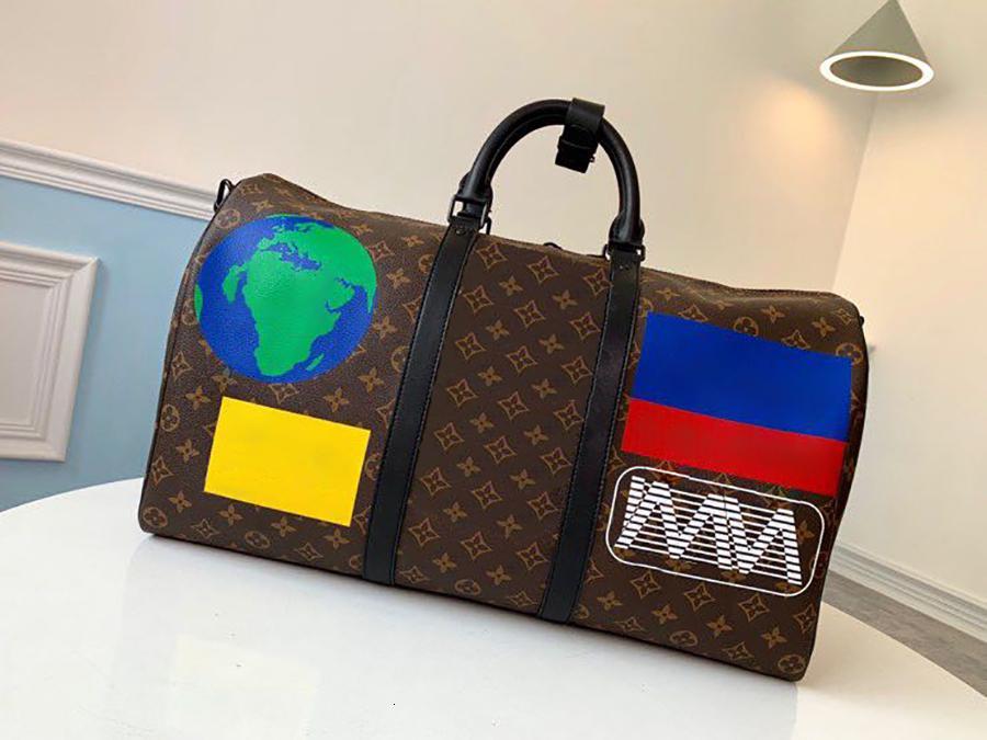 2019 estilo caliente de calidad superior Keepall Bandouli una especie de re 50 bolsas de viaje M44642 de la lona del hombro bolsos de cuero Bolso de viaje M44643