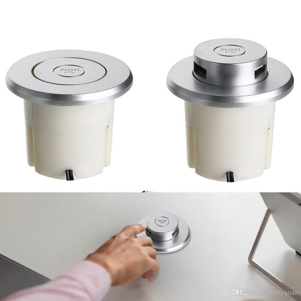 Factory with two hundred people round sofa USB charger socket pop up power outlet for office