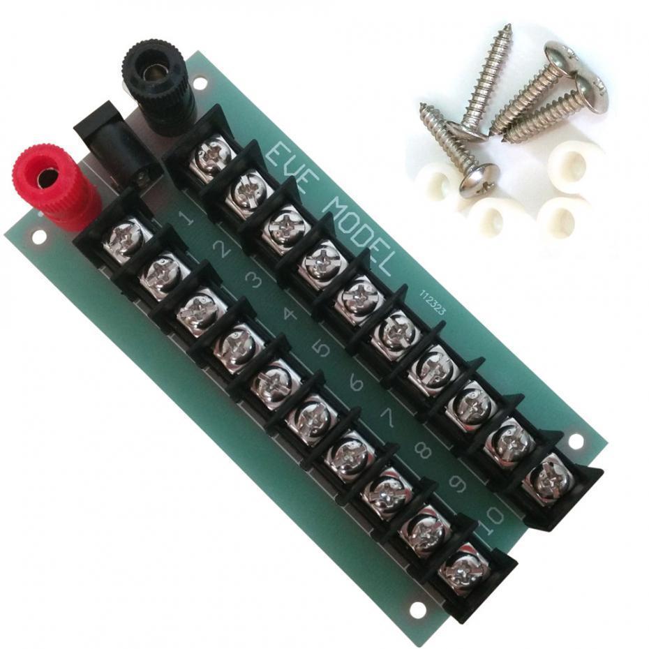 1 Distribuição Set Power Board 3 Entradas 2 x 10 saídas para DC e AC Voltage novo modelo de trem escala ho modelagem ferroviária PCB005