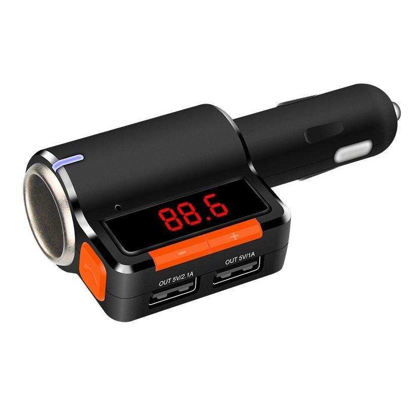 Neu Car Kit MP3 Player Bluetooth-Stereo-Musik spielen drahtlose Bluetooth FM-Transmitter-LCD-Display USB Car Charger für iPhone und Android (Retai)