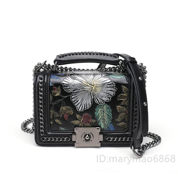 Hot Selling Women's Shoulder Bag Tote Brand Leather Chain Handbags Lady high Quality Cross Body Bag The European styling designer Bags