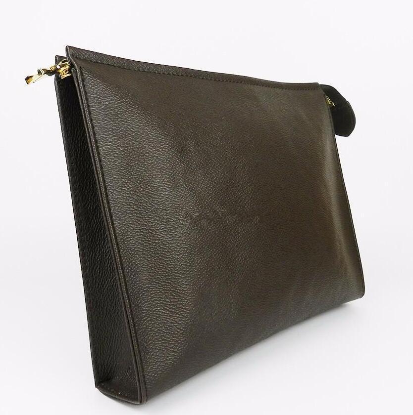 Higiene del recorrido del maquillaje de la bolsa de protección Zopper bolsos de embrague de las mujeres del cuero auténtico impermeables bolsas de cosméticos para las mujeres Carteras Monederos 26cm