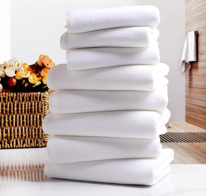 منشفة بيضاء مناشف الفندق منشفة بيضاء لينة ستوكات نسيج الوجه منشفة المنزل تنظيف الوجه الحمام اليد الشعر مناشف الشاطئ