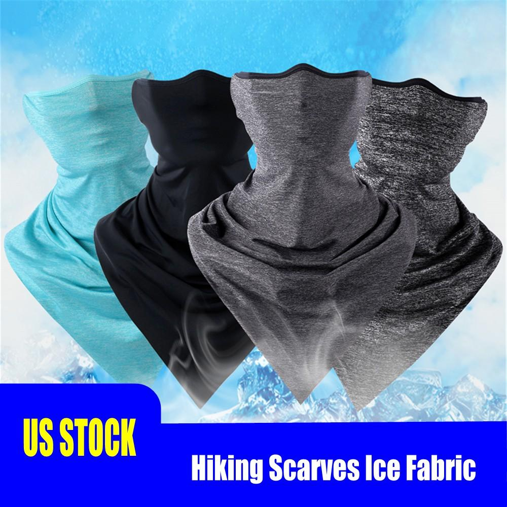 DHL Ship Summer Cycling Hiking Scarves Ice Fabric Breathable Bicycle Bandana Headwear Sun Protection Neck Scarf Fitness Sports Bike scarf