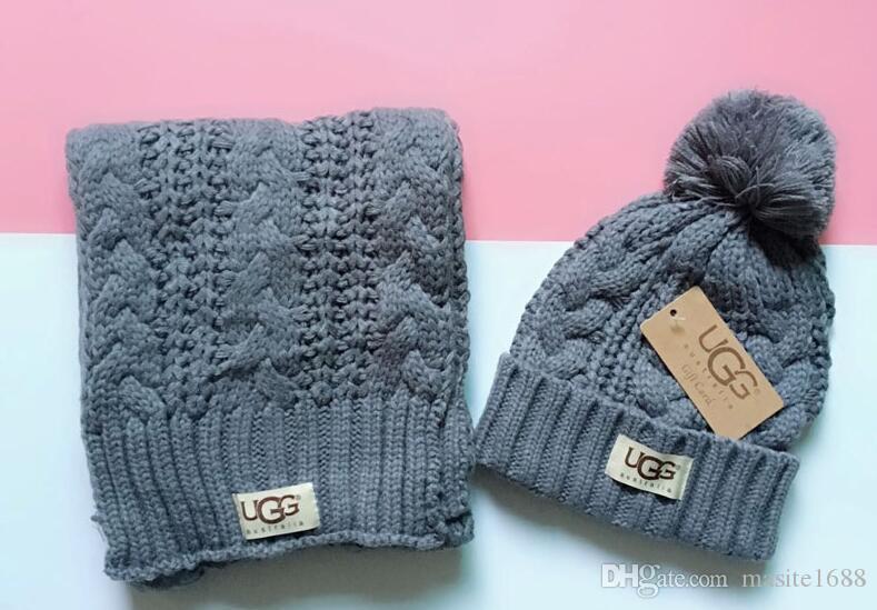 High Quality Men And Women Designer Hat Scarf Sets Warm European High-end Luxury Hat Scarf Fashion Accessories 8