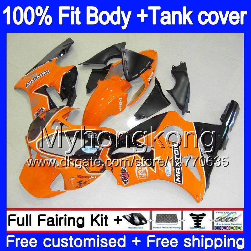 Inyección OEM para Kawasaki ZX 12R 1200 2000 2001 1200 cc ZX12R naranja negro 222MY.38 ZX 12 R ZX1200 C 00 01 00 01 ZX12R 100% Fit carenado