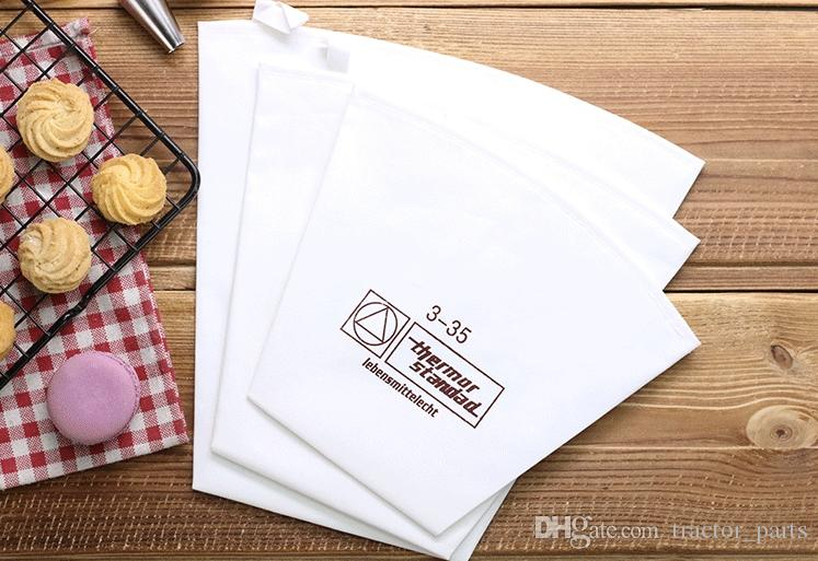 SGS FDA custom Best diy reusable 3-35 12inch cotton pipping pastry icing bags for cake decoration tools Bakeware