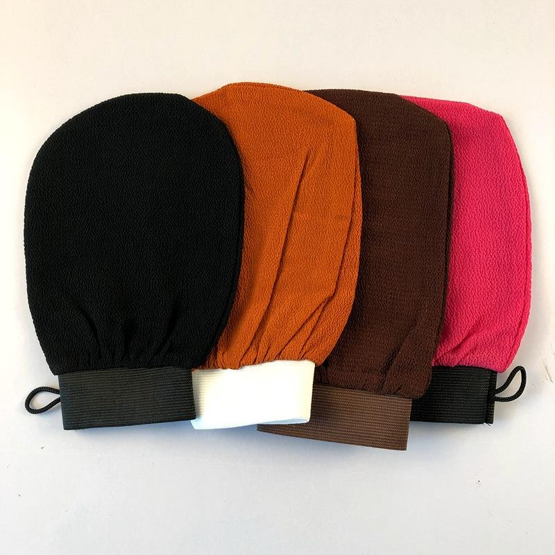Durable Moroccan Hammam Exfoliating Mitt Kessa Scrub Glove Preparation Shower Scrub Gloves Body Facial Tan Massage Mitt DLH291