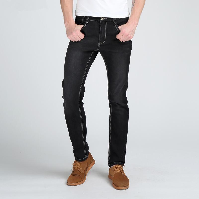Frère Wang Adoucisseur Men « S Slim Jeans High Fashion élastique Maletighten solide Marque Casual Skinny Jeans Mens Designer Jeans Regular
