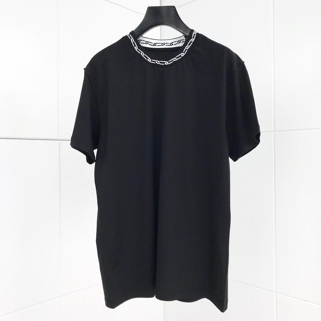 2020 nuovi uomini di stile della maglietta estate manica corta casuale a catena T superiori collo sottile Uomini Donne stampa magliette per T-shirt