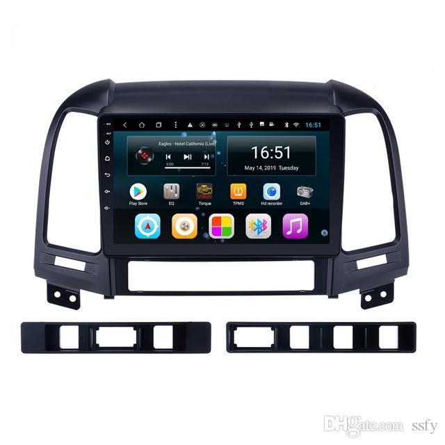 Android 9 pollici 8-core per Hyundai santa fe Radio Bluetooth per auto AM FM Buona qualità Music Resolution HD display Radio Wifi Head Unit