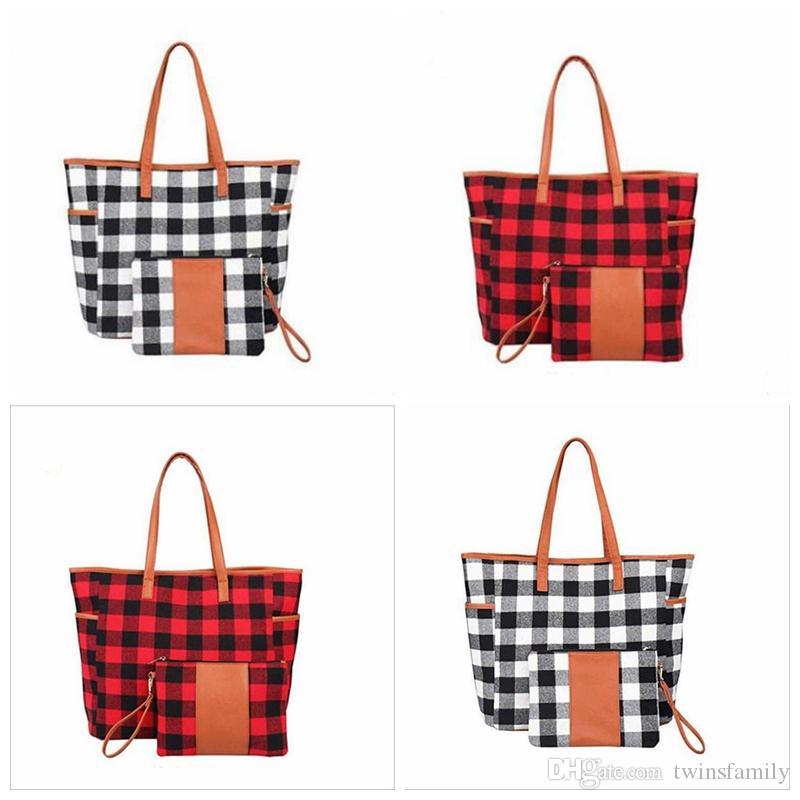 Buffalo Plaid Borse borsa rossa Nera Mostra Weekend Viaggi Borse a tracolla progettista Duffle Borse Girasole leopardo Totes borsa Portafoglio D7302