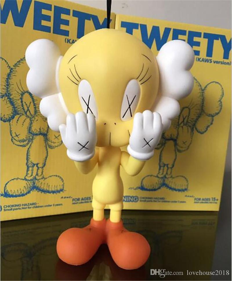 OriginalFake 20cm 0.4kg originalFake Companion muito bonito Tweety Brinquedo para Caixa Original Ação Figura Modelo Decorações Crianças Presente