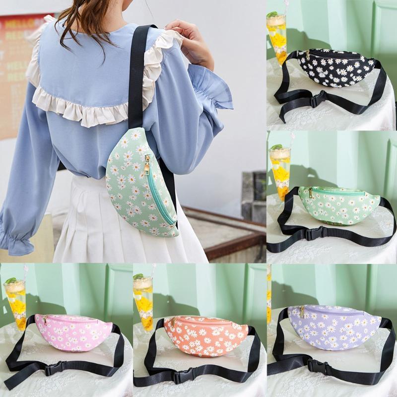 Bolsas de cintura Flores de verano Playa Paquete de Fanny Bolsa Moda Mujeres Cremallera Cofre para Messenger Teléfono