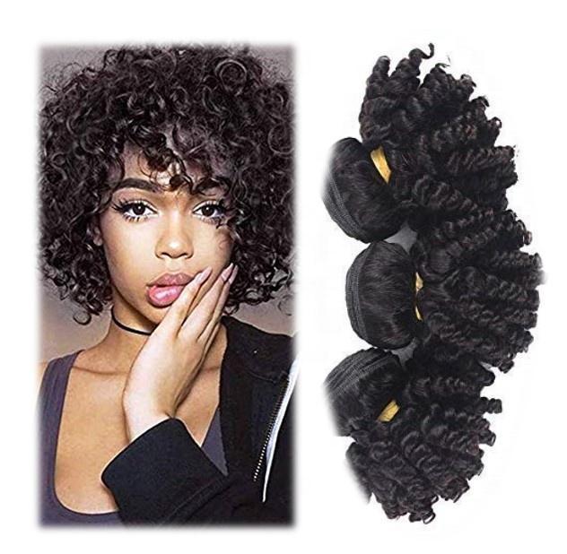 China cute virgin bundle new design double drawn natural color funmi hair bundles extension with closure