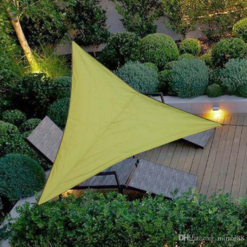 Waterproof Triangular UV Sun Shade Sail Combination Net Triangle Sun Sail Tent