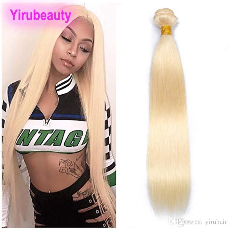 Estensioni per i capelli umani vergini peruviani Bionde Body Wave One Bundle 613 Color Double WeFts Prodotti per capelli 10-32inch Bionda Dritto Yirubeauty