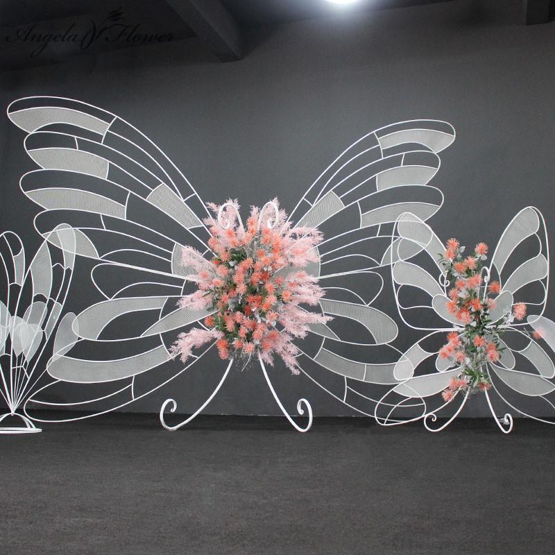 Hochzeit Bogen Requisiten hohle Schmetterling Hintergrund Partei Bühne Szene Mall Aktivitäten dekorative Ornamente künstliche Blumenständer