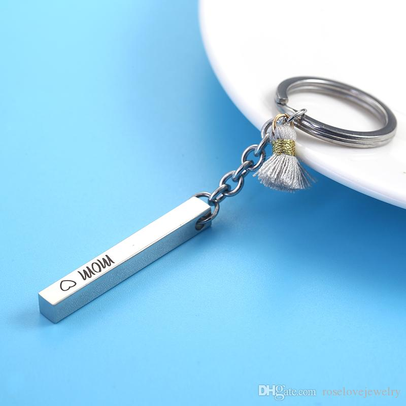 Drive Safe Letter Stainless Steel Key Chain Key Ring Delicate Father/'s Gift