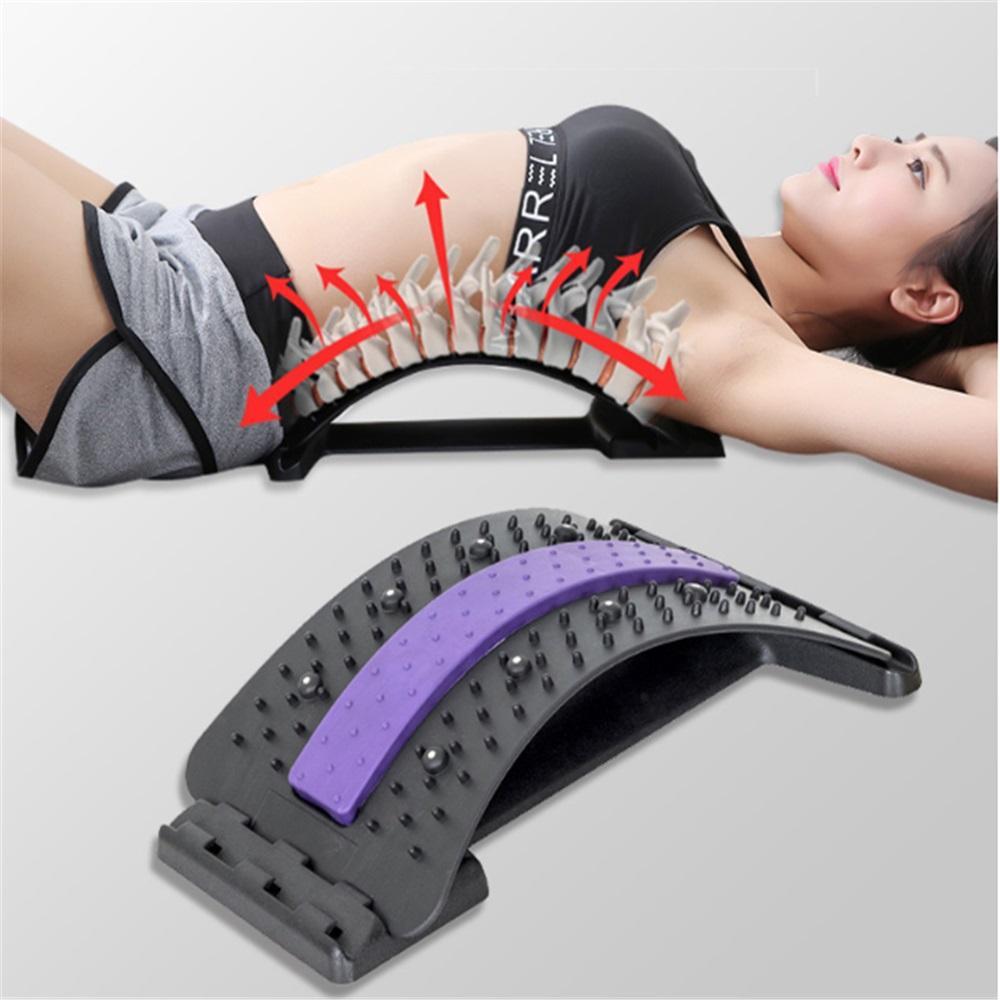 Back Stretch Equipment Massager Massageador Magic Stretcher Fitness Lumbar Support Relaxation Spine Pain Relief Corrector Health Care