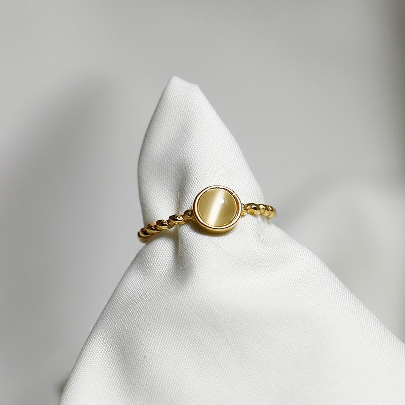 أنيقة الشخصية الجودة 925 موضة خواتم ملتوية مايكرو العقيق الطوق 925 خاتم فضة للمجوهرات النساء حزام قابل للتعديل