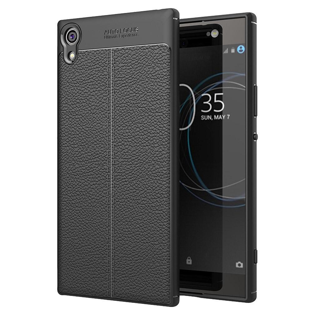 Per Sony Xperia XA1 Ultra Litchi Texture TPU Protettiva Caso Della Copertura Posteriore