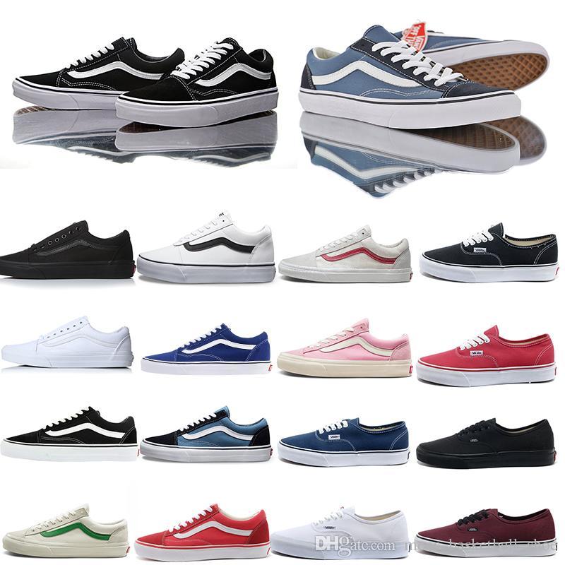 2019 Vans Old Skool Shoes Designer Sneakers Sports Skateboarding Highman For Women Men Training Casual Shoe