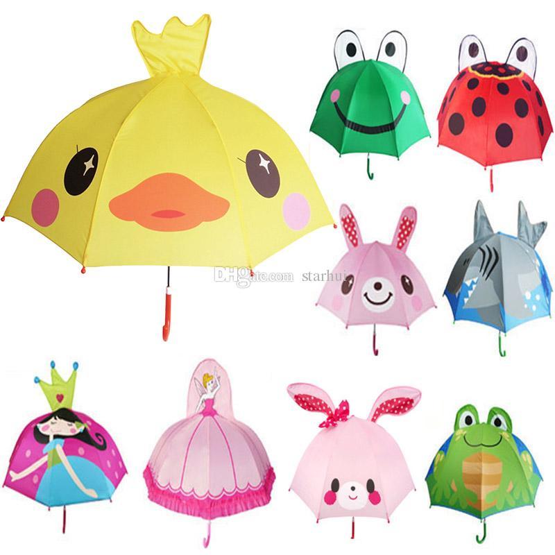 جميل الكرتون تصميم مظلة للأطفال جودة عالية 3d اختياري وظيفة مظلة ضوء ل مظلات المطر الشمس المنزل WX9-692