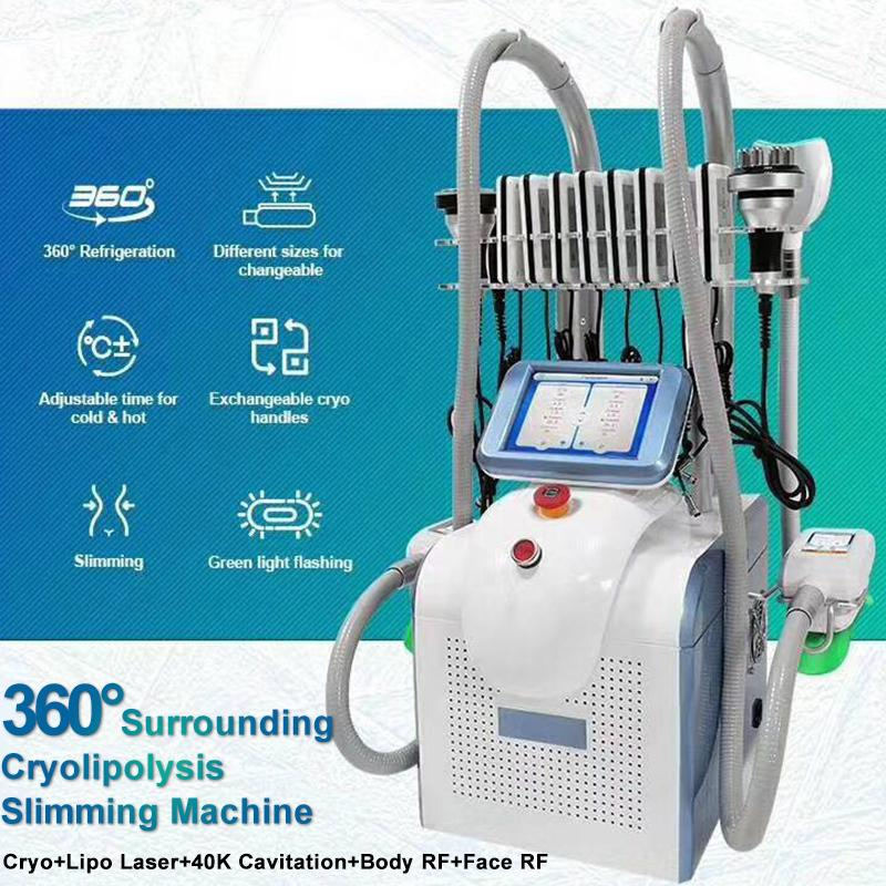 2020 Cryolipolysis жира Замораживание машина для похудения потеря веса Криотерапия с 4-мя ручками жира Замораживание Cryolipolysis машины