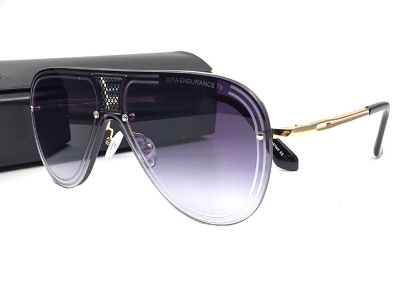 케이스의 새로운 럭셔리 선글라스 남성 디자인 금속 빈티지 선글래스 패션 스타일 광장 금속 프레임 대형 태양 안경 UV (400 개) 렌즈