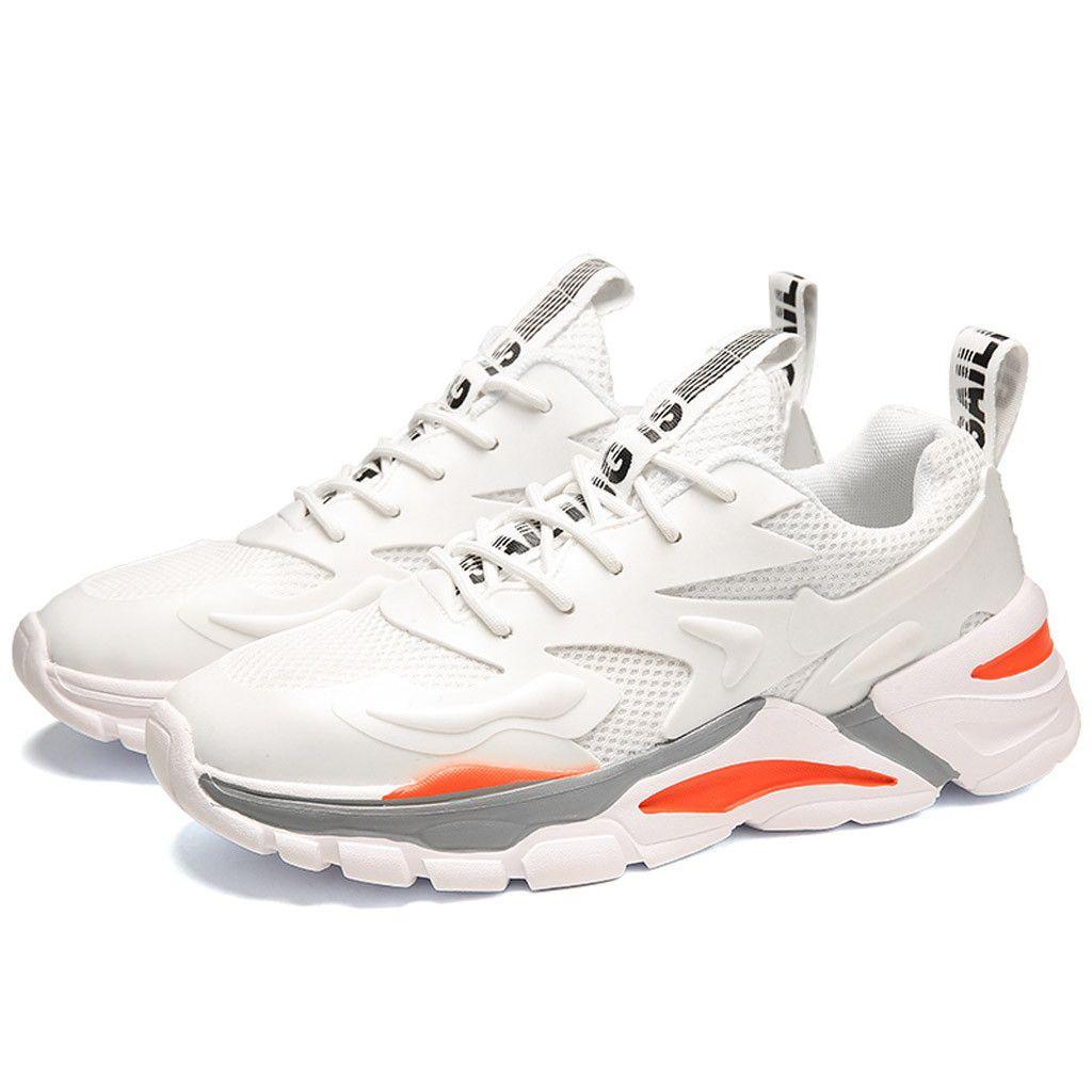 أزياء الرجال حذاء مكتنزة ملابس تنفس منصة الترفيه أحذية الرياضة في الهواء الطلق أحذية الرجال الأبيض الاحذية للذكور