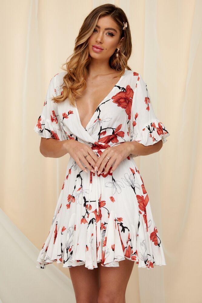 Designer Spring New Fashion Con Scollo A V in pizzo stampa Open-Back Vestiti Dalle Donne Modello Floreale Cuciture Allentato Vestito Dalla Vita vestiti
