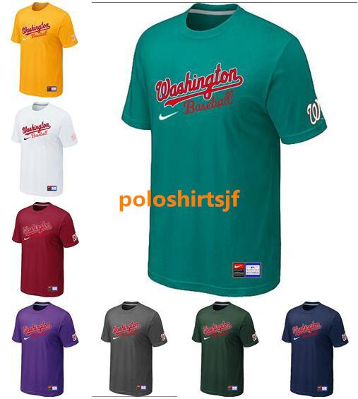 WashingtonNationals Men Washington Hot Style Nationals Pro Line by Fanatics Retro Polychrome Black and white Red T-Shirt