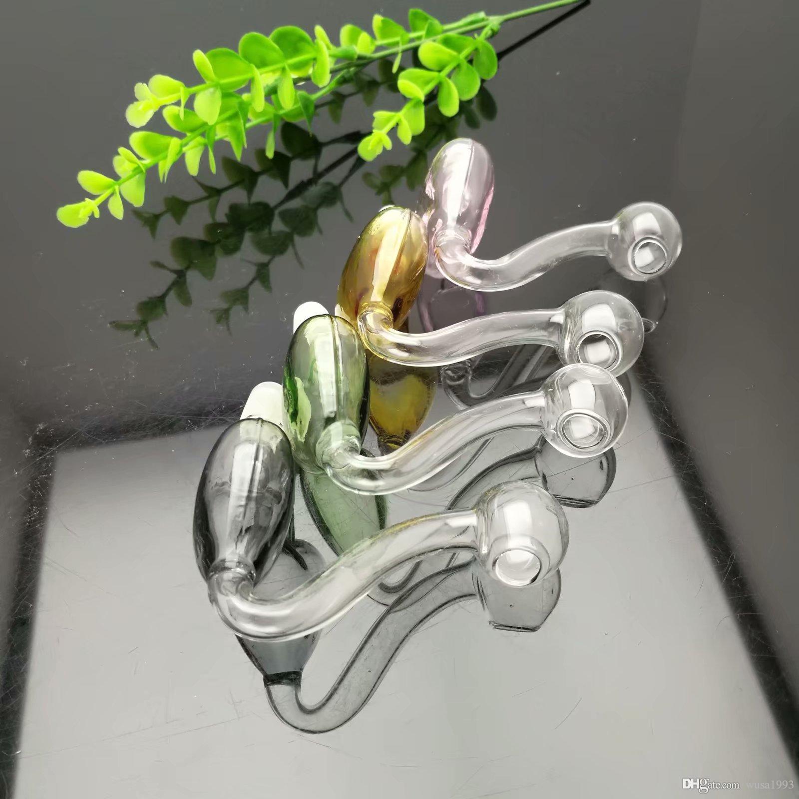 pot de verre pêche-coeur de couleur gros verre narguilé, pipe à eau en verre Raccords, fumer, libre Shippin