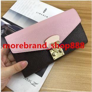 Top Portafoglio Women Zipper Zipper Multicolor Box Classic Pocket Long Holder Scheda con Quality Pelle Mesull